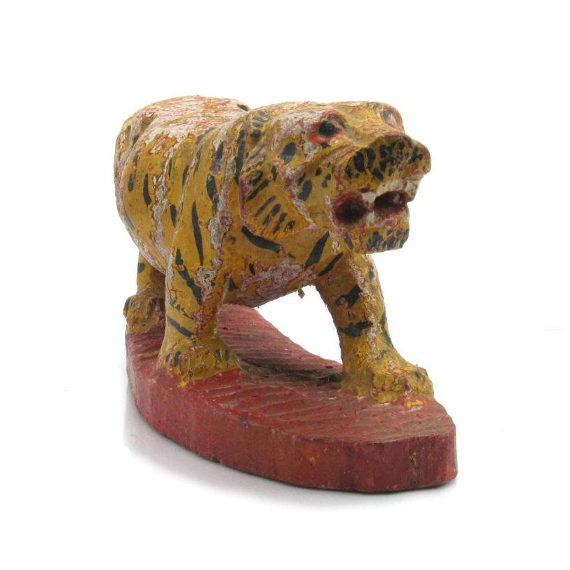 Antique Northern Thailand/ Burma Border Tiger Temple Guardian Figure -03