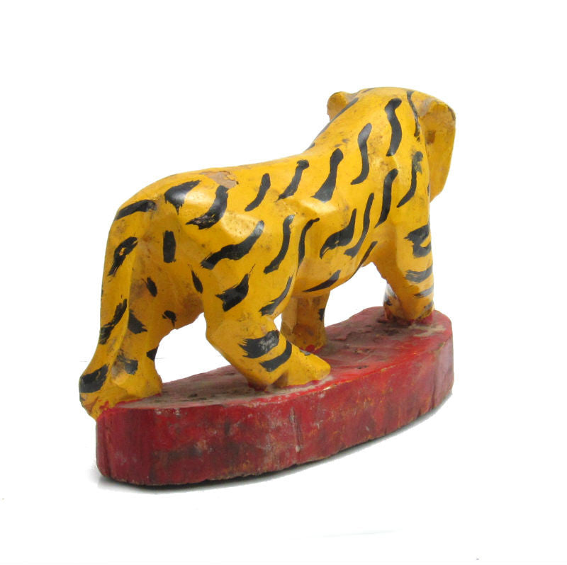 Antique Northern Thailand/ Burma Border Tiger Temple Guardian Figure -05