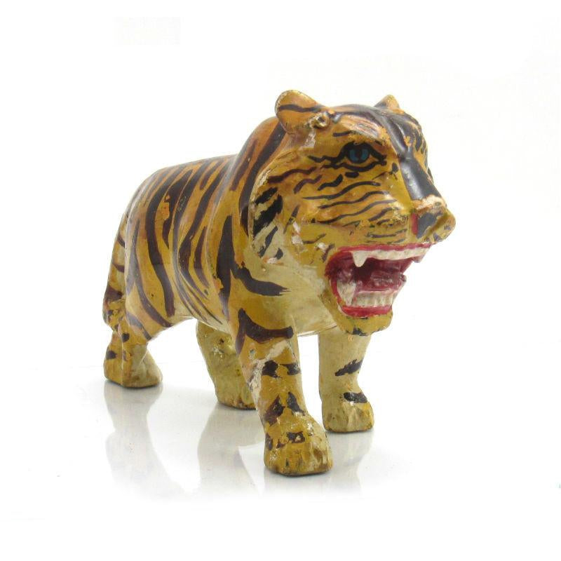 Antique Northern Thailand/ Burma Border Tiger Temple Guardian Figure -06