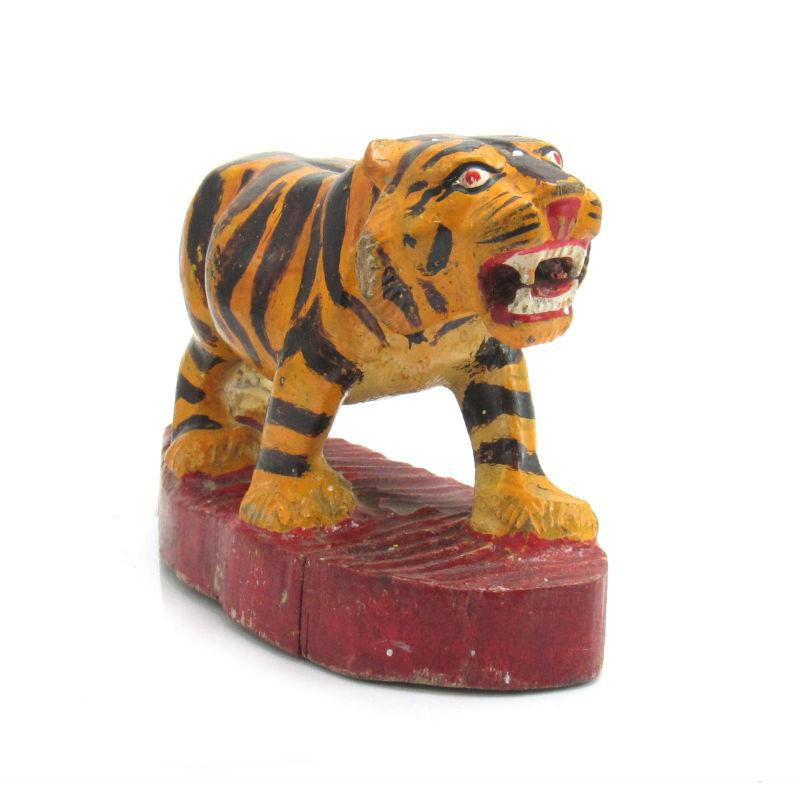 Antique Northern Thailand/ Burma Border Tiger Temple Guardian Figure -07