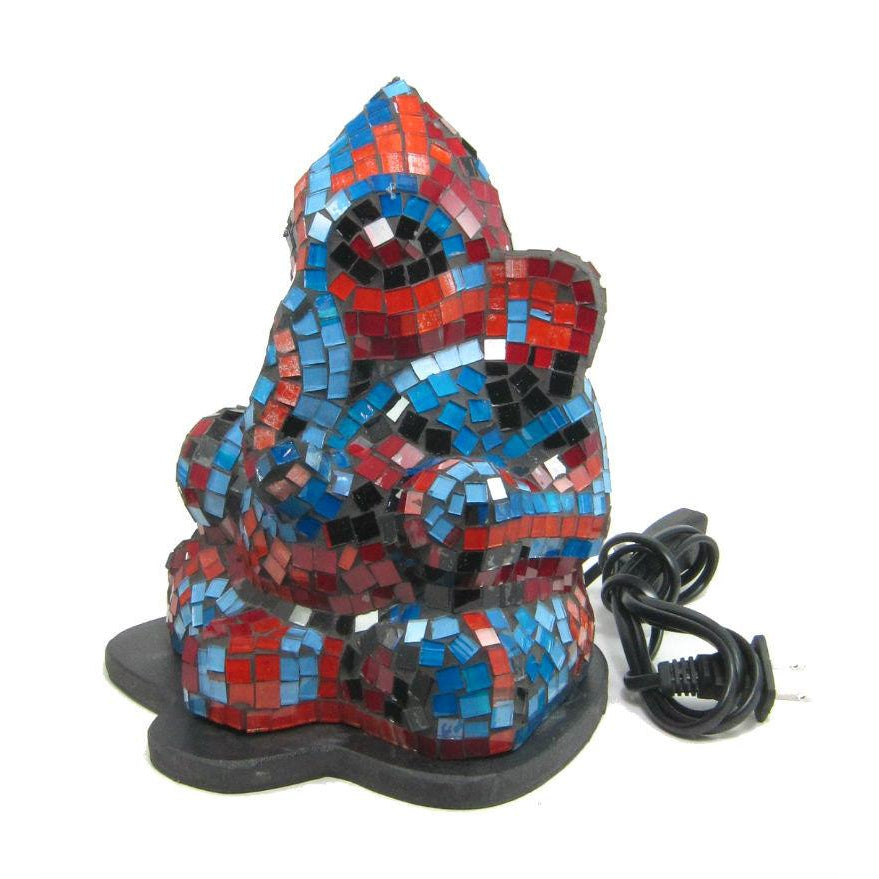 Glass Mosaic Ganesha Lamp 1