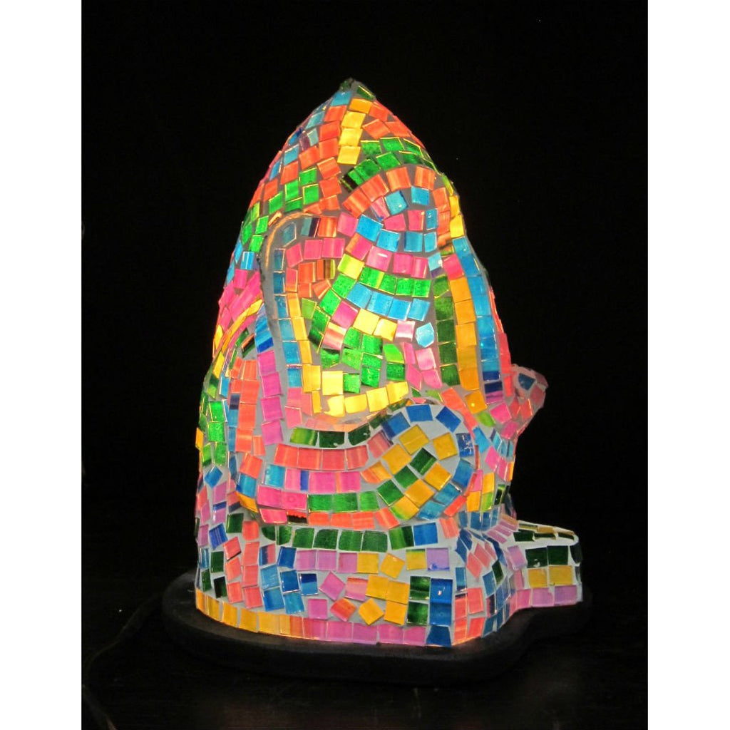Glass Mosaic Ganesha Lamp 2