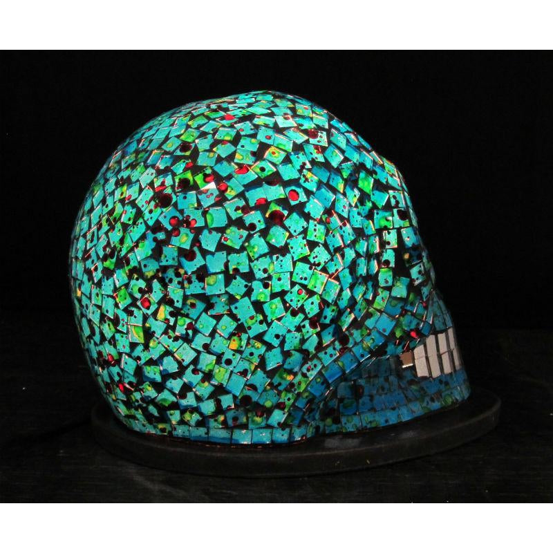 Glass Mosaic Skull Lamp 2
