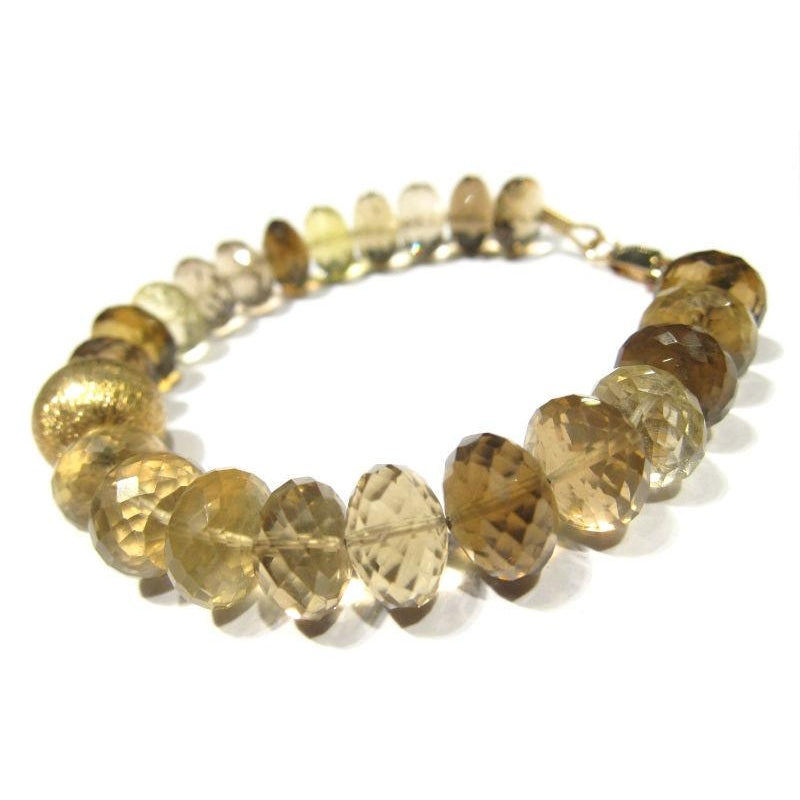 Citrine Bracelet with Gold Plate Lobster Claw Clasp