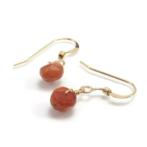 Sunstone Earrings with Gold Filled French Ear Wires