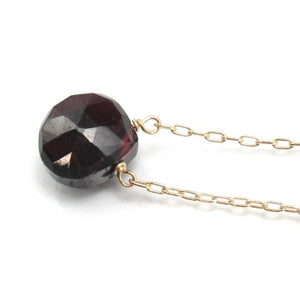 Garnet Necklace on Gold Filled Chain and Gold Filled Spring Ring Clasp