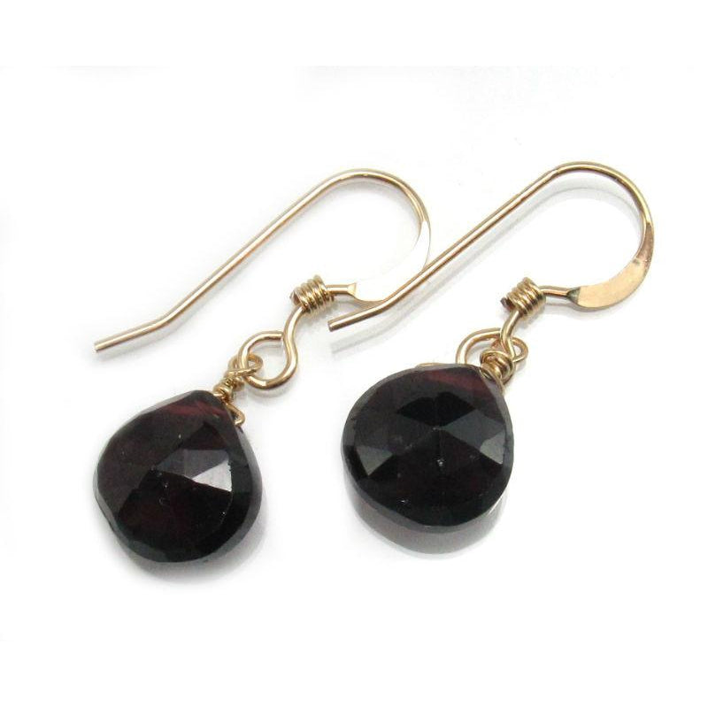 Garnet Earrings with Gold Filled French Ear Wires