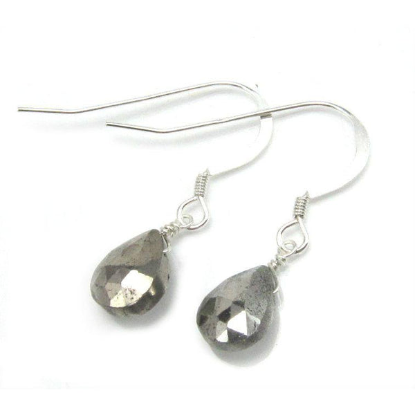 Pyrite Earrings with Sterling Silver French Ear Wires