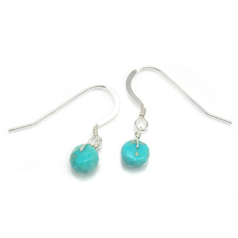 Turquoise Earrings with Sterling Silver French Ear Wires