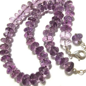 Amethyst Necklace or Bracelet Combo with Sterling Silver Trigger Clasp