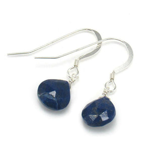 Lapis Lazuli Earrings with Sterling Silver French Ear Wires