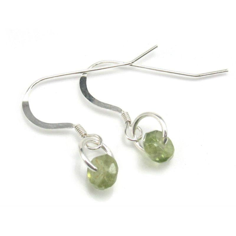 Peridot Earrings with Sterling Silver French Ear Wires