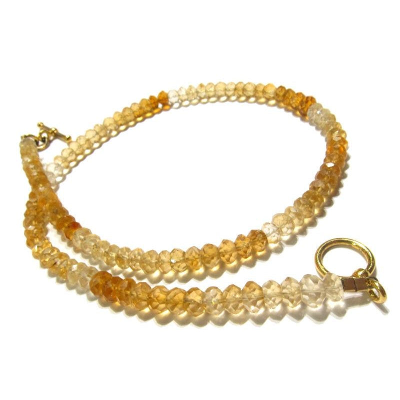 Citrine Necklace with Gold Plated Clasp