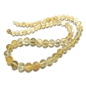 Citrine Necklace with Gold Filled Trigger Clasp