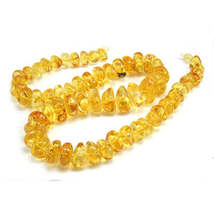 Clear Sunshine Perfection Yellow Amber Nuggets Strand/Necklace