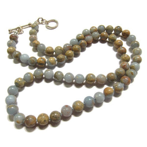 Opal (African) Necklace with Sterling Silver Toggle Clasp
