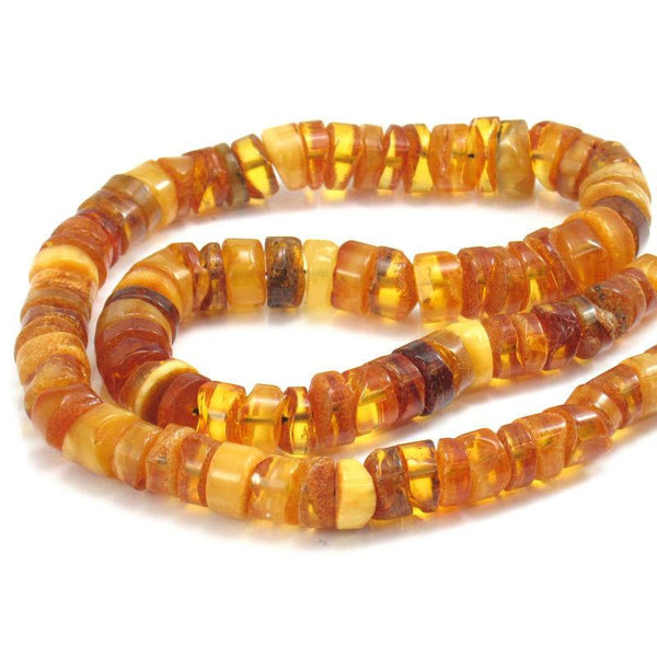 Amber Wheel Necklace/Strand