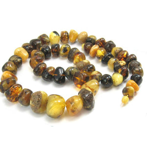 Amber Black and Butterscotch Grand XL Nugget Strand/Necklace