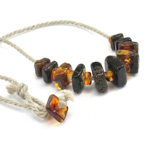 Amber Square Cut Necklace