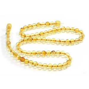 Amber 6mm Rounds Necklace/Strand