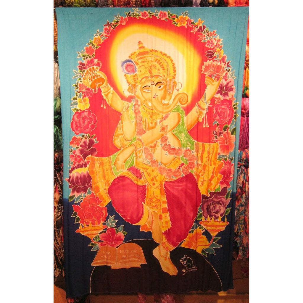 Large Screen Print Sarong, Ganesha 1