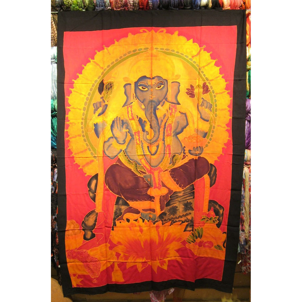 Large Screen Print Sarong, Ganesha 2