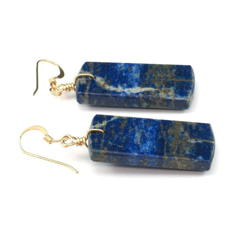 Lapis Lazuli Earrings with Gold Filled French Ear Wire