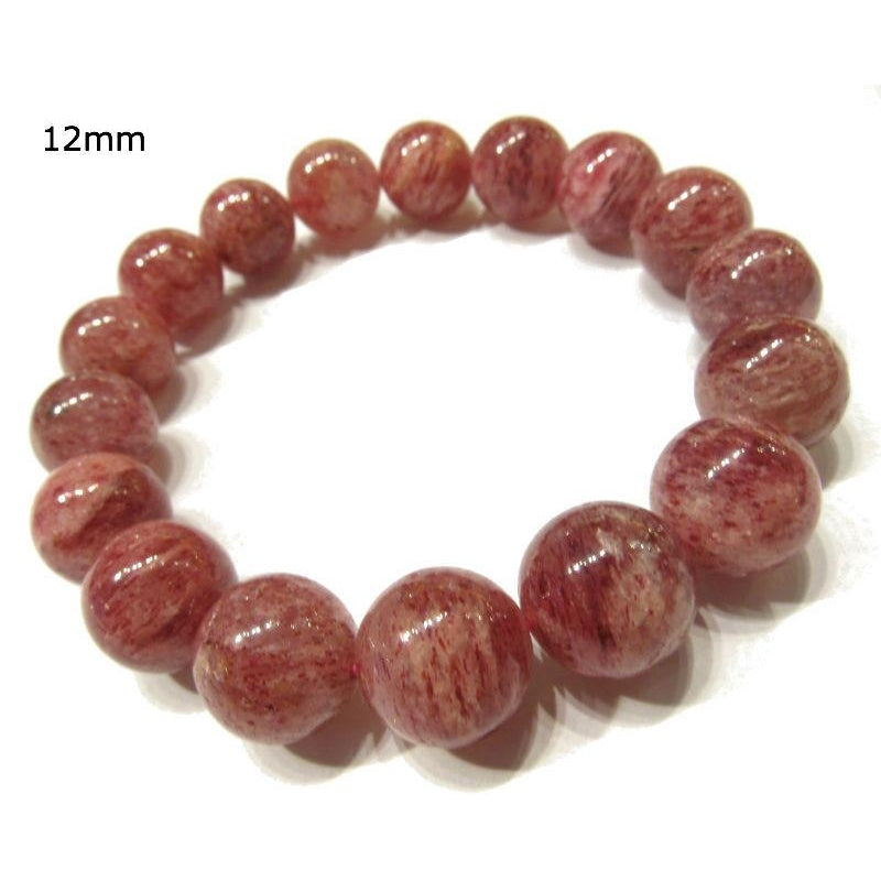 Cherry Quartz Rounds Stretch Bracelet 11mm OR 12mm