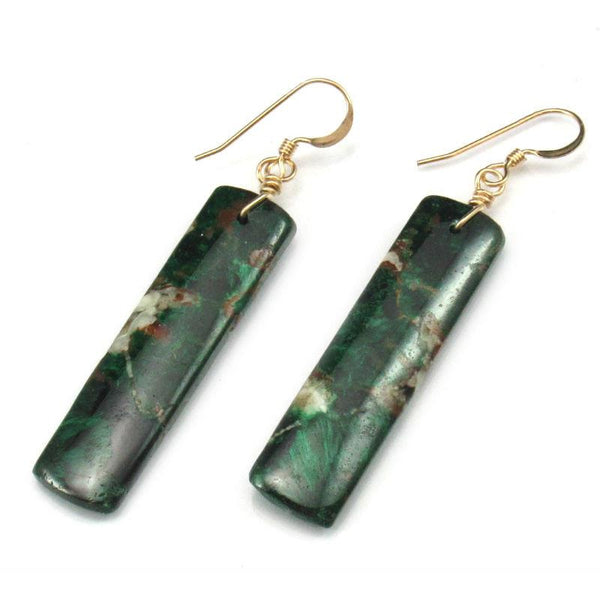 Chrysocolla Earrings with Gold Filled French Ear Wires