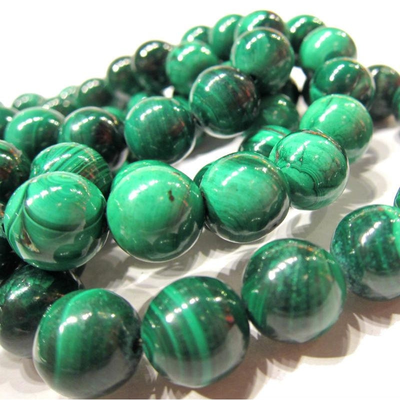 Malachite Rounds Stretch Bracelet 12mm