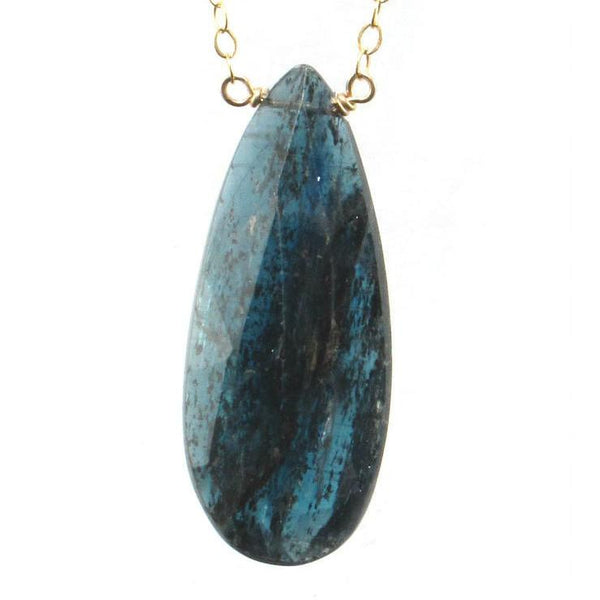 Kyanite Necklace with Gold Filled Spring Clasp