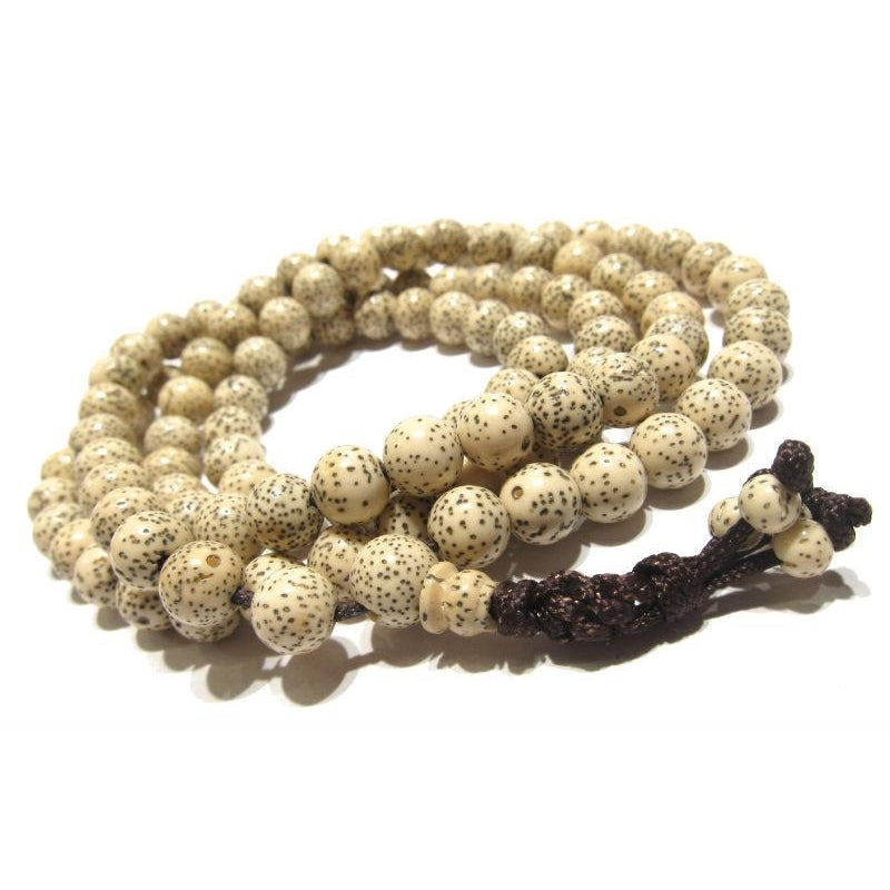 Polished Rattan Seed Pod Mala 8mm