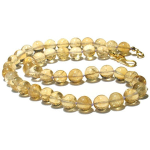 Citrine Necklace with Gold Plated Hook Clasp