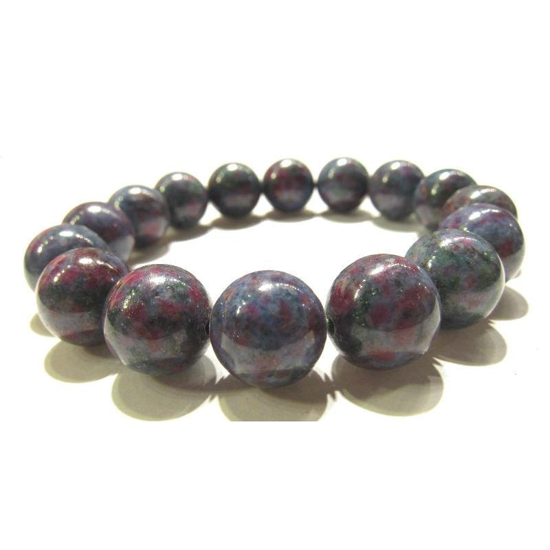 Blue Zoisite Rounds Stretch Bracelet