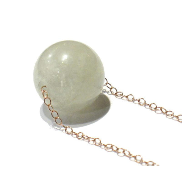Moonstone Necklace with Copper Trigger Clasp