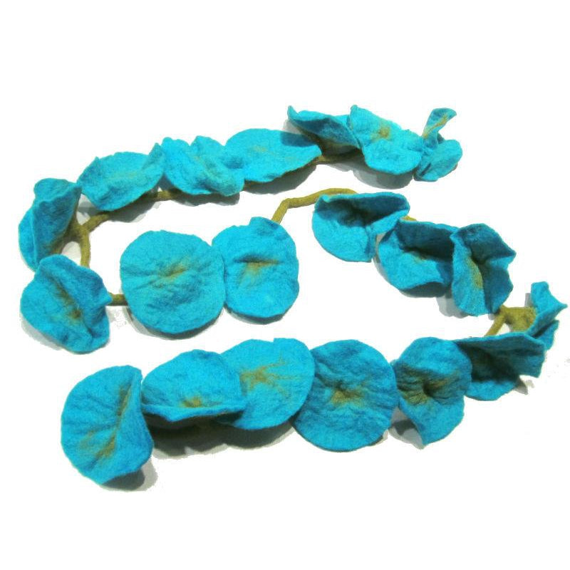 Lotus Felt Scarf from Nepal