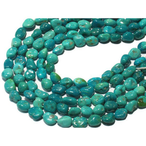 Sleeping Beauty Turquoise Nuggets 10mm Strand