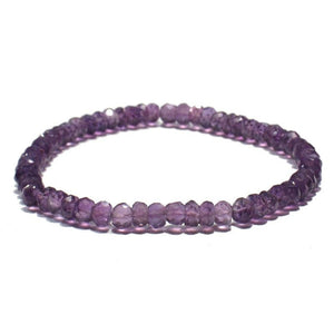 Amethyst Faceted Bracelet on Elastic Cord