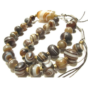 Banded Agate Heirloom Beads