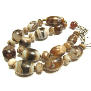Banded Agate Heirloom Beads 4