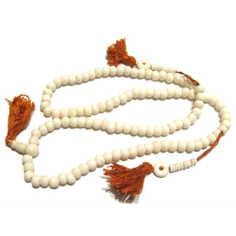 Plain Cow Bone Mala 8mm