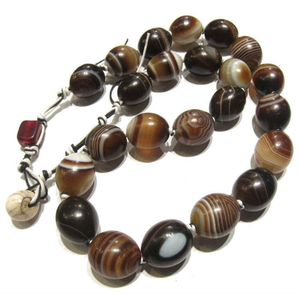 Banded Agate Heirloom Beads 1