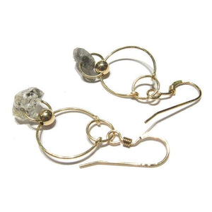 Herkimer Diamond Earrings with Gold Filled Earwires