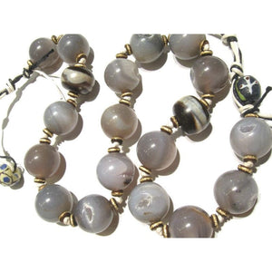 Heirloom Chalcedony Agate Beads, A