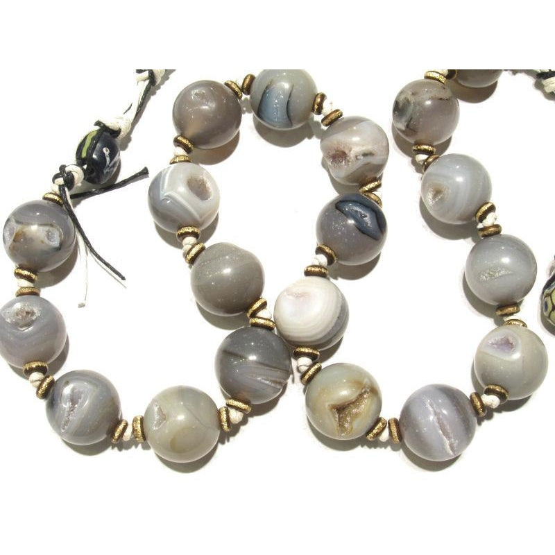 Heirloom Chalcedony Agate Beads, B