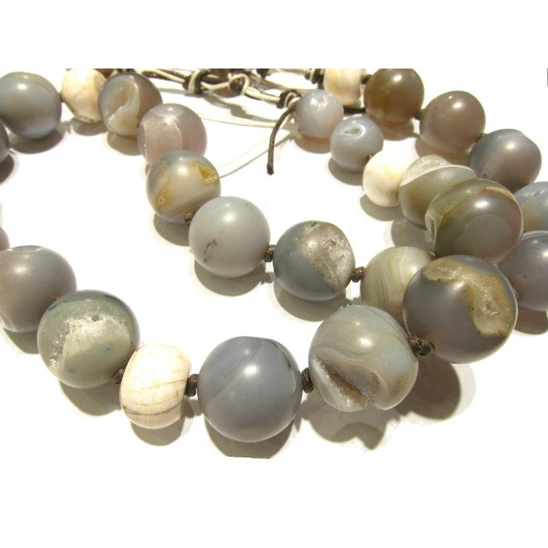 Heirloom Chalcedony Agate Beads, C