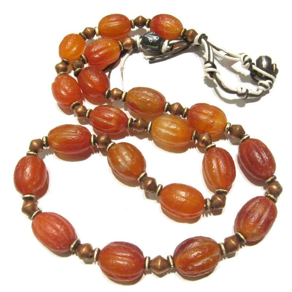 Contemporary Indian Carnelian Heirloom Necklace 2