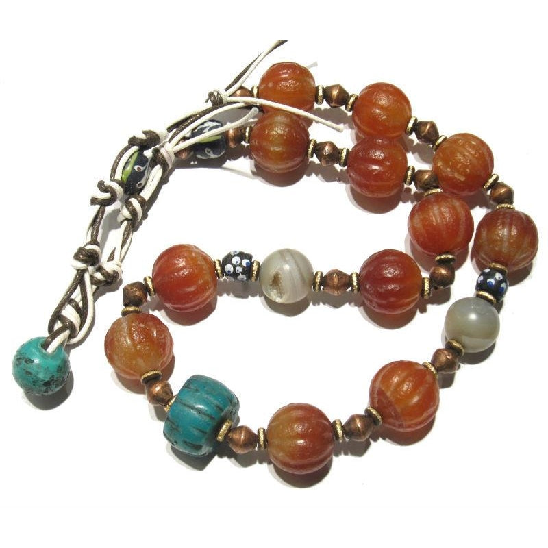 Contemporary Indian Carnelian Heirloom Necklace 4