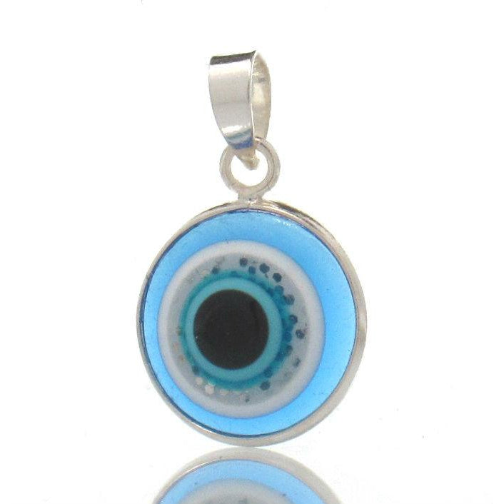 """Evil Eye"" Sterling Silver Pendant"