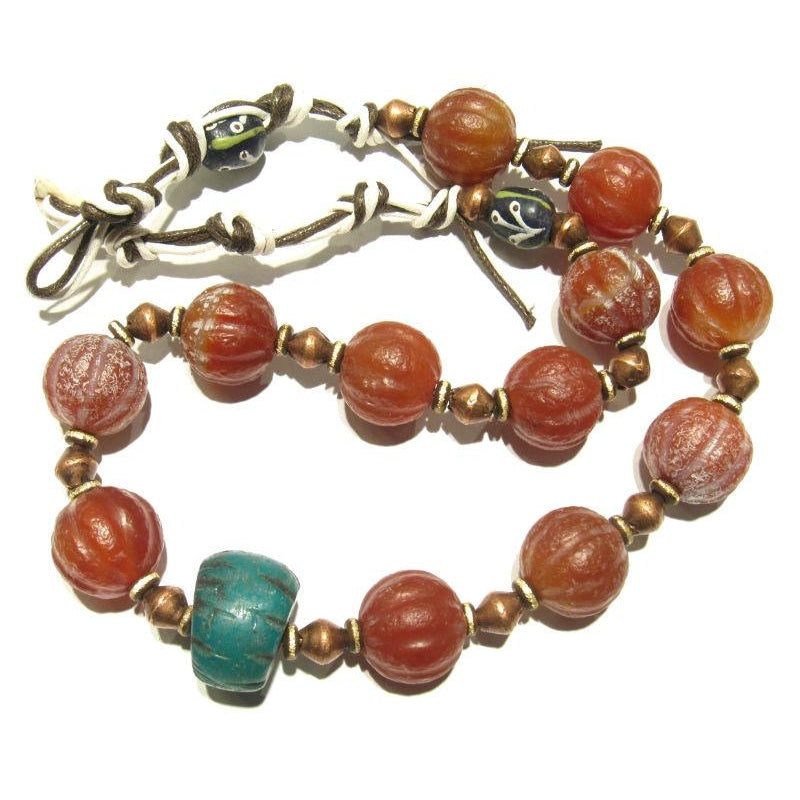 Contemporary Indian Carnelian Heirloom Necklace 5